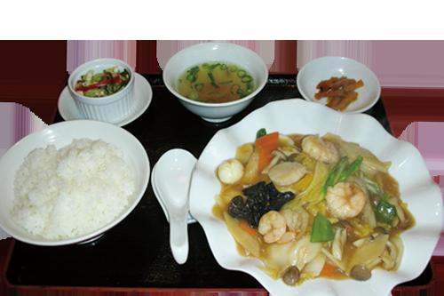 写真:八宝菜定食
