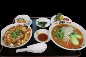 写真:坦々麺セット
