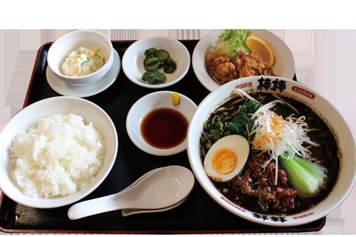 写真:黒ゴマ坦々麺定食